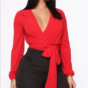 Fashion nova red crop top